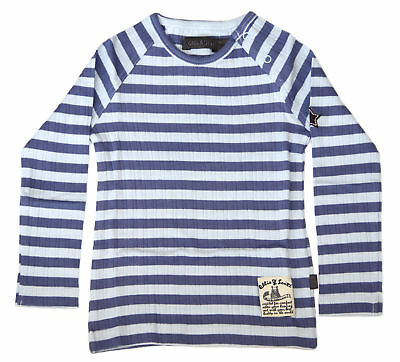 Ollie & Scott Boys Casual Light Blue Stripe Qasa Long Sleeve Tee EU 86 UK 18mth