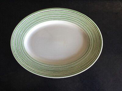 Susie Cooper Art Deco 1930s Oval Banded Plate