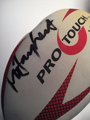 Mike Catt Signed Rugby Ball