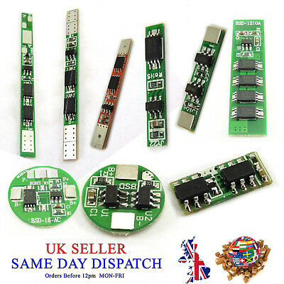1 Cell PCB BMS 18650 Protection Board Li-ion Lithium Battery 1S 10A