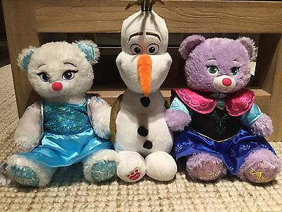 Build A Bear Elsa Anna Olaf Frozen Set