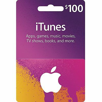 Apple iTunes $100 USD Code Voucher Certificate Gift Card 100 Dollar US Store Key
