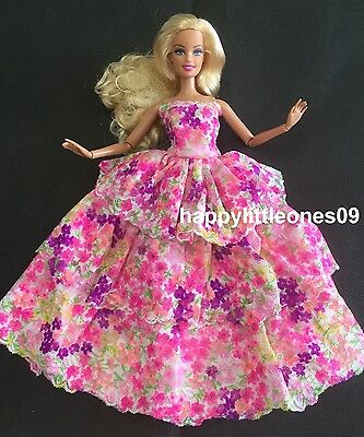 Brand New Barbie Doll Blossoms Wedding Party Evening Dress/Clothes/Outfit Lovely