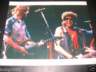 "Bob Weir (Grateful Dead) with Bob Dylan Photo, by Ron Delany, 1987, 8""x10"""