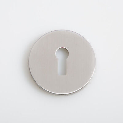 50mm STAINLESS STEEL ESCUTCHEON Key Hole Cover Keyway Profile EASY FIT PLATE