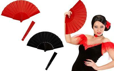Fancy Dress Fold Out Flamenco Plastic Hand Fans Plain Concertina Spanish Dancing