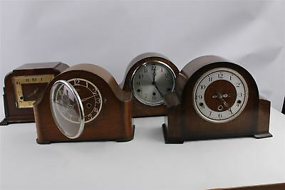 Lot of 4 x Vintage Mantel Clocks MIXED Designs SPARES&REPAIRS Inc.SMITHS