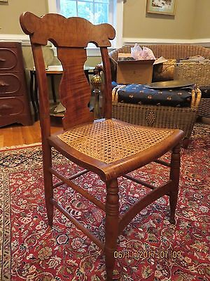 Antique Greek Revival Birdseye maple side chair - Excellent condition