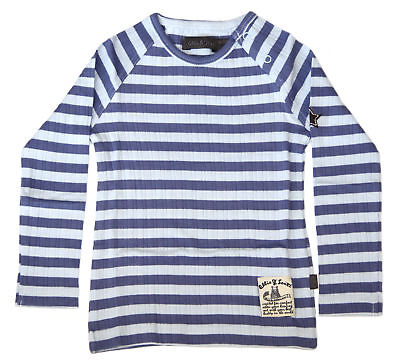 Ollie & Scott Boys Casual Light Blue Stripe Qasa Long Sleeve Tee EU 92 UK 2yr NE