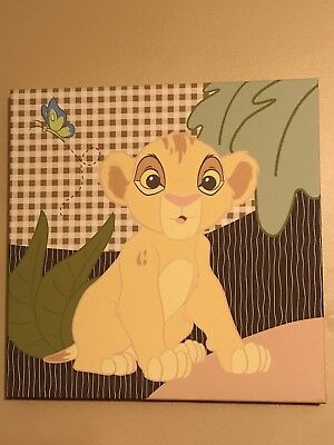 The Lion King Baby Nursery Canvas Wall Art Simba 12 x 12 Disney Decor