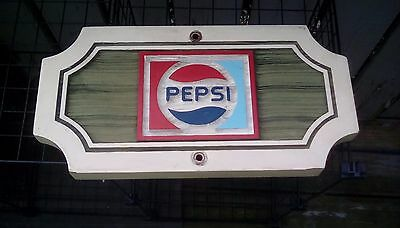 Vintage Golf course hole sign advertising piece Pepsi cola