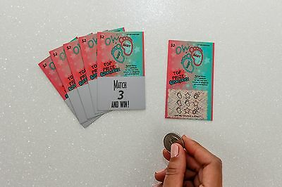 Pregnancy Baby Announcement Scratch Off Lottery Ticket Cards Pack of 12 Keepsake