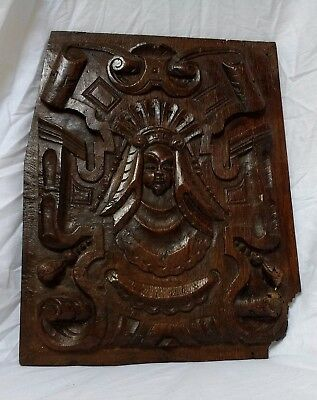 Fine Rare 16th Century Tudor Carved Oak Panel Circa 1560-1580