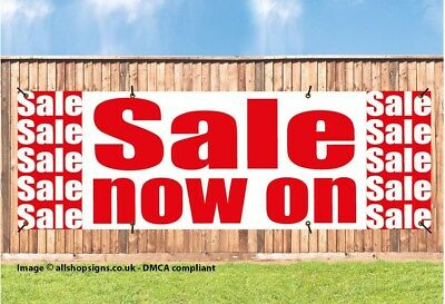 SALE NOW ON SHOP SIGN BANNER OUTDOOR POSTER waterproof PVC with Eyelets