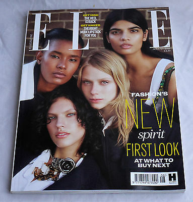 ELLE UK Aug August 2016 Handbag Size Magazine Fashion's New Spirit New