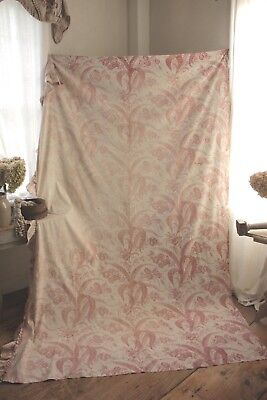 Shabby Chic BEAUTIFUL faded floral fabric material French old wonderful !