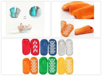 Kids Toddlers Grip Socks slippers Anti Skid Non Slip 6-Pairs, 3-6 Years