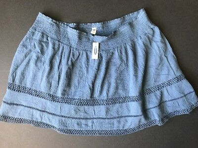 NEW Old Navy Women's Maternity Woven Skirt Size XXL * CUTE BLUE