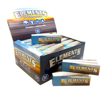 Elements Premium Filter Tips Roaches Cigarette Smoking Joint Roller Roach Book