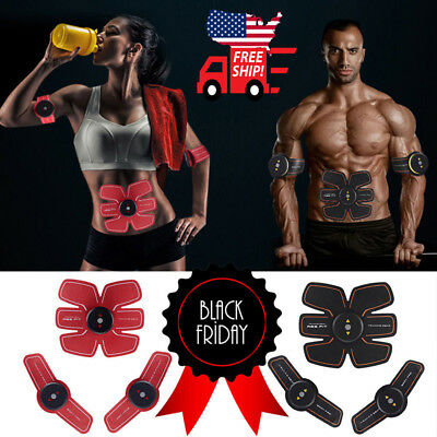 Ultimate ABS Simulator EMS Training Body Abdominal Muscle Exerciser AB & Arms US