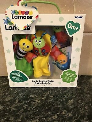 Lamaze Gardenbug Foot Finder & Wrist Rattle Set (NEW) FREE P+P