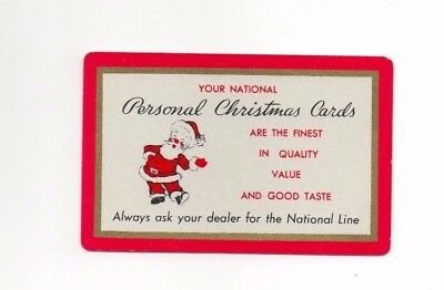 Vintage Pocket Wallet Calendar ~ National Xmas Cards ~ 1952 ~ Playing Card Size