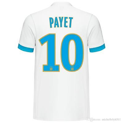 Adults 3XL Olympique de Marseille Home Shirt 17-18 Payet 10 Badges Ligue 1 MX1