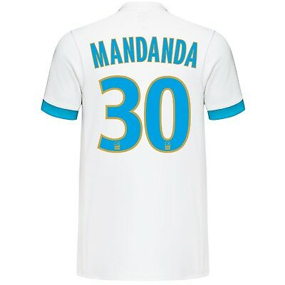 Mens XL Olympique de Marseille Home Shirt 2017-18  Mandanda 30 MX1