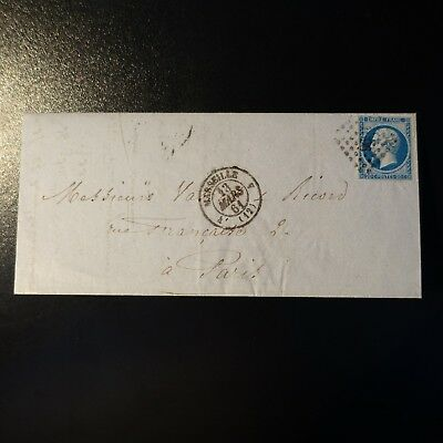 France Napoléon N°14B Sur Lettre Cover Pc 1896 Marseille -> Paris