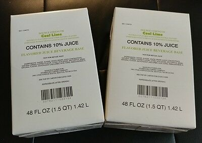 Starbucks Cool Lime Refresher Juice Beverage Base 3 unopened 48 oz boxes