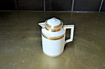 Antique Old Paris Porcelain? creamer  white and real gold