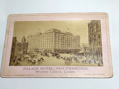 1870's PALACE HOTEL SAN FRANCISCO  BROCHURE POSTCARD