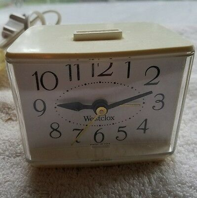 "Vintage 1970""s Westclox Electric Alarm Clock E54/55 Retro"
