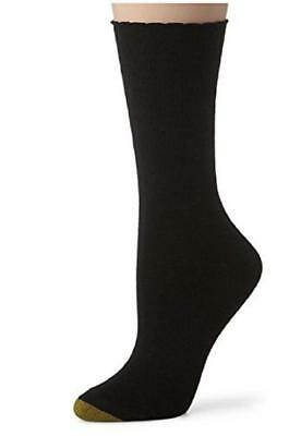 Gold Toe Women's Picot Flat 4-Pack Socks Size 9-11 Black