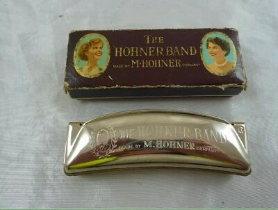 Vintage The Hohner Band Harmonica