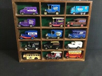 Vintage Cast Iron Trucks comes with wooden display case