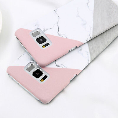 For Samsung Galaxy S6 S7 S8 S9 Plus Granite Marble Texture Hard Phone Case Cover