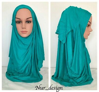 Double Loop Instant Soft Cotton Jersey Hijab Scarf Ready To Wear 24 colors