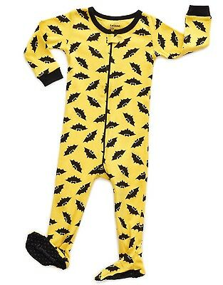 """Leveret Baby Boys Girls """"Bats"""" Footed Pajama Sleeper 100% Cotton (Size 6M-5T)"""