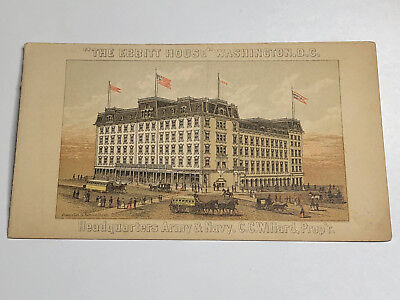 Early THE EBBITT HOUSE Hotel Washington DC Brochure Tradecard Trade Card