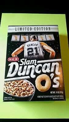 NEW* HEB Slam Duncan O's-Limited Edition Cereal | Tim Duncan San Antonio Spurs!