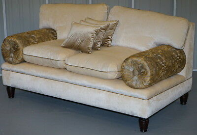 Brand New Rrp £9,000 George Smith Two Seat Sofa With Paperwork Velvet Silk