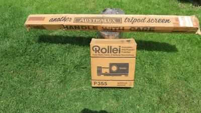 Rollei P355 Autofocus 35mm Slide Projector Bundle with Extras