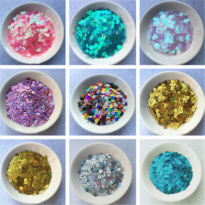 4000pcs 4mm Round Loose Sequins Paillettes Clothes Sewing Wedding DIY Craft