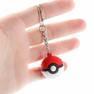 1pc Pokemon Pokeball Poke Ball Keychain Key Ring Bag Pendant Kids Gift