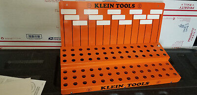 Klein Tools Orange Metal Store Tool Display Rack Wall Shelf with Wall Art NEW