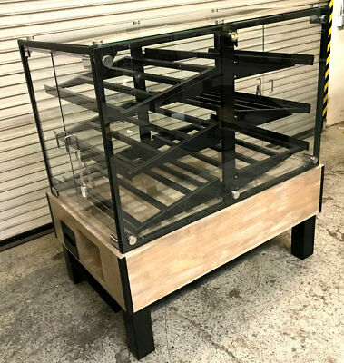 "NEW 51"" Glass Dry Bakery Display Case Double Sided #7565 Commercial Donut Rack"