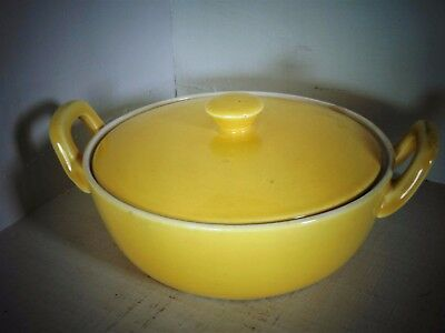 "villeroy boch,, 70""s yellow   dish, with lid"