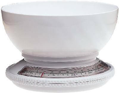 Progressive KT-1205 5-Lb. White Kitchen Scale With Removable Bowl