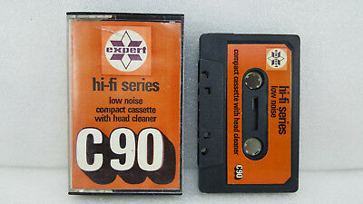 Hi-Fi Low Noise Compact Cassette With Head Cleaner C90 & 1 New Raks Sealed Tape